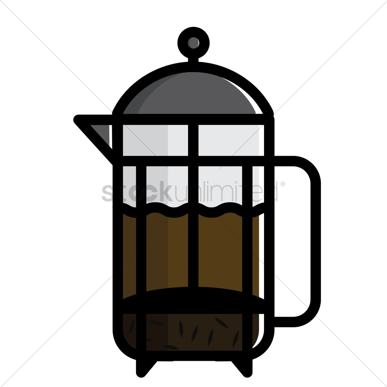 1300x1300 French Press Vector Image