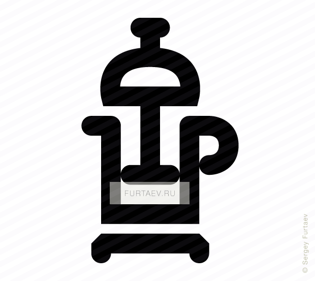 620x553 French Press Vector Icon