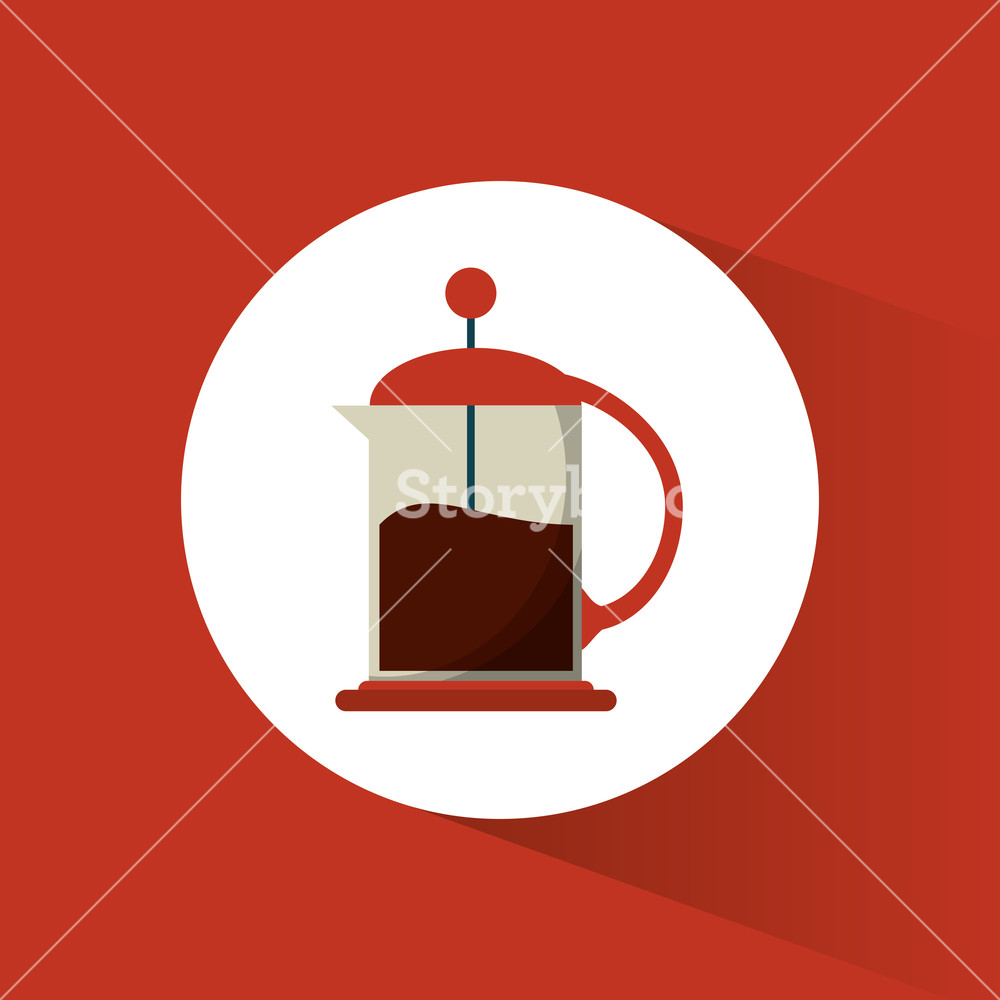 1000x1000 French Press Coffee Glass Vector Illustration Eps 10 Royalty Free
