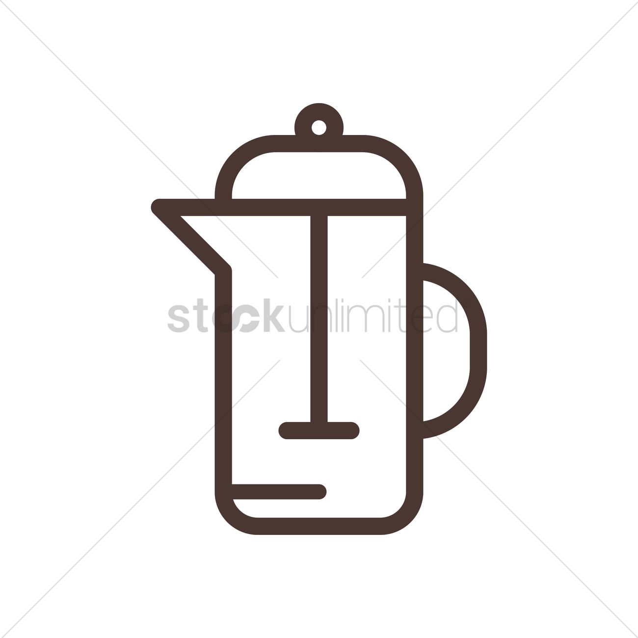 1300x1300 Coffee French Press Vector Image