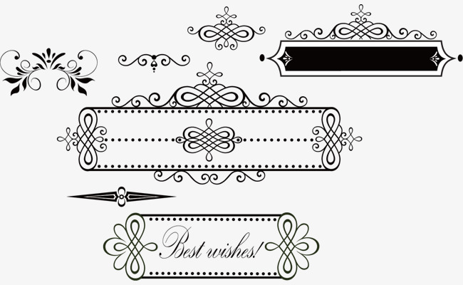 650x400 French Border Pattern, Border Vector, Pattern Vector, French