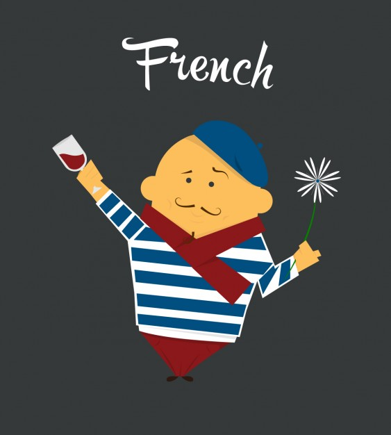 563x626 French Man Flat Illustration Vector Free Download