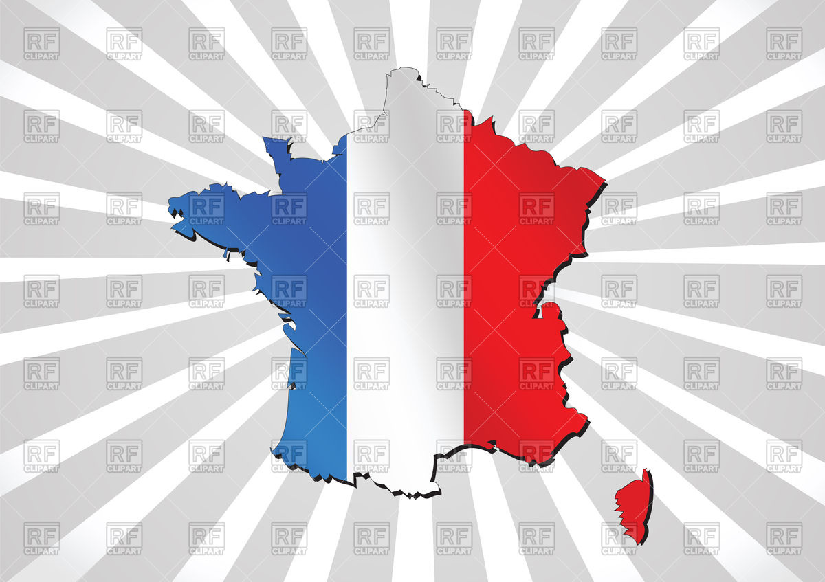 1200x847 Map And Flag Of France , French Republic Vector Image Vector
