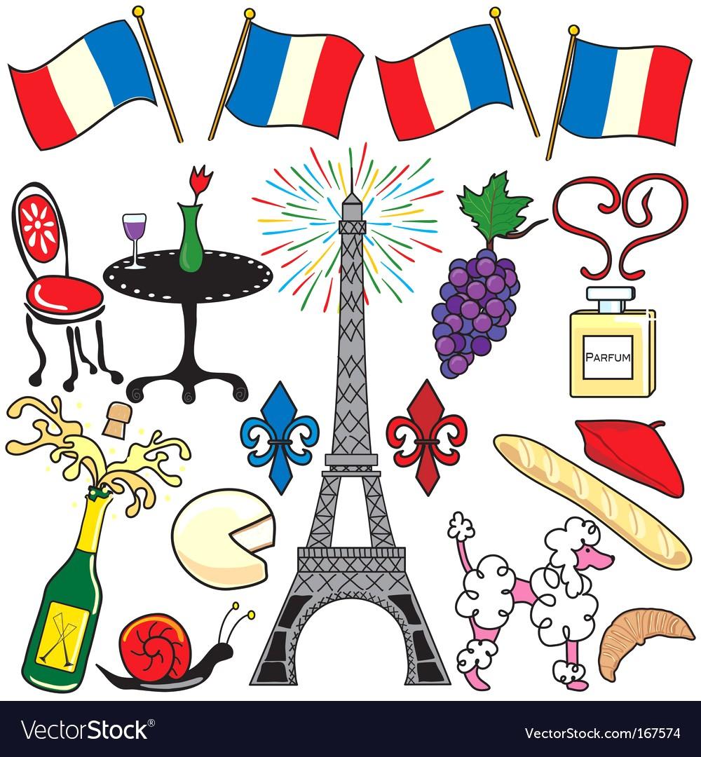 1000x1080 Paris France Clipart Elements Vector 167574 11 French