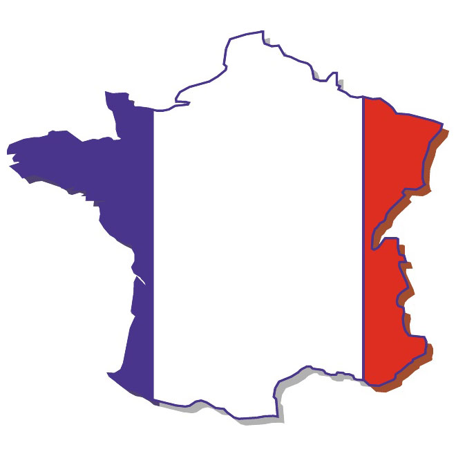660x660 Vector Map Of France