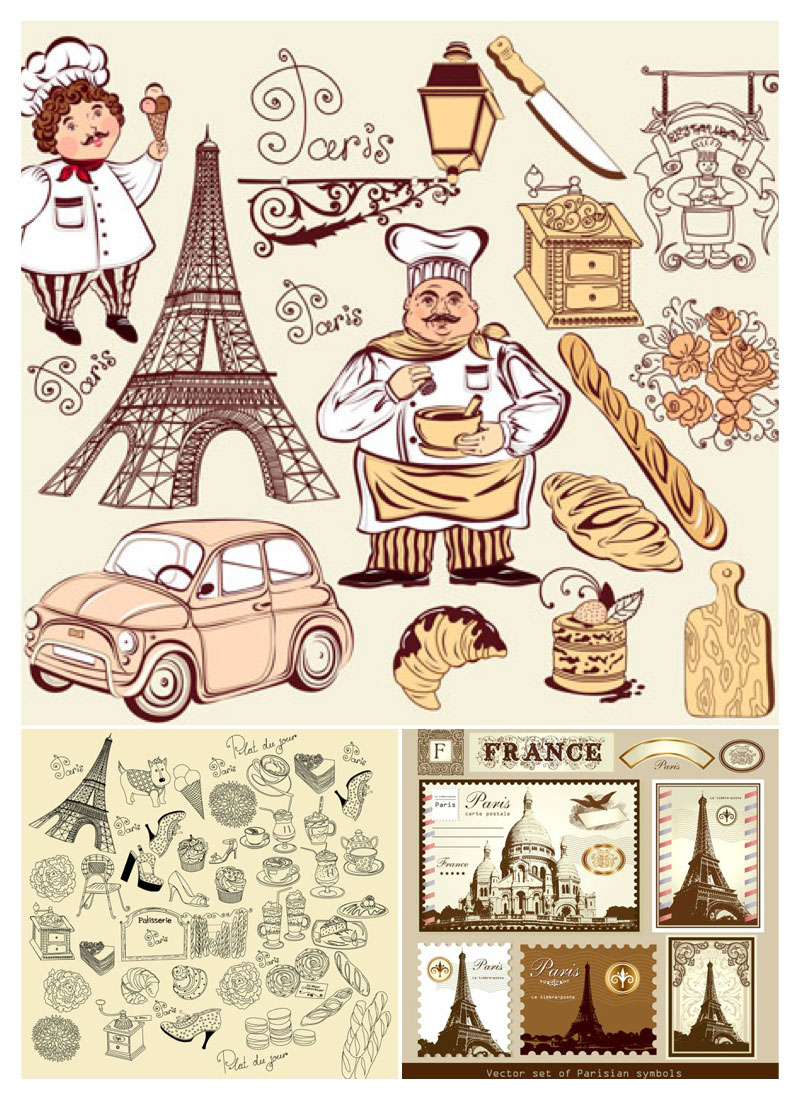 800x1100 Vintage French Illustrations Vector Free Stock Vector Art