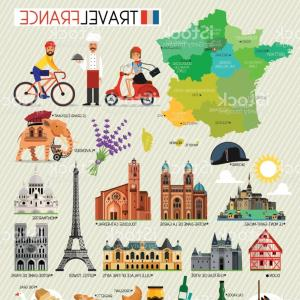 300x300 France Landmarks And Travel Map France Travel Icons Vector