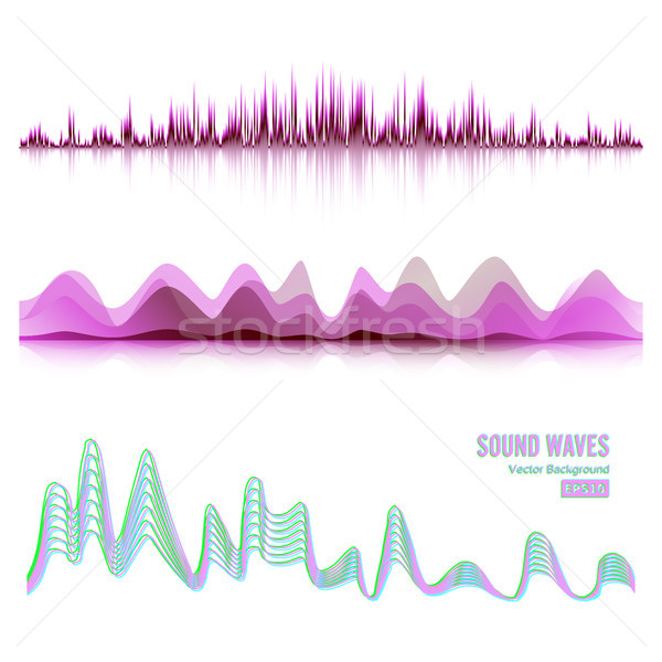 600x600 Music Sound Waves Pulse Abstract Vector. Digital Frequency Track