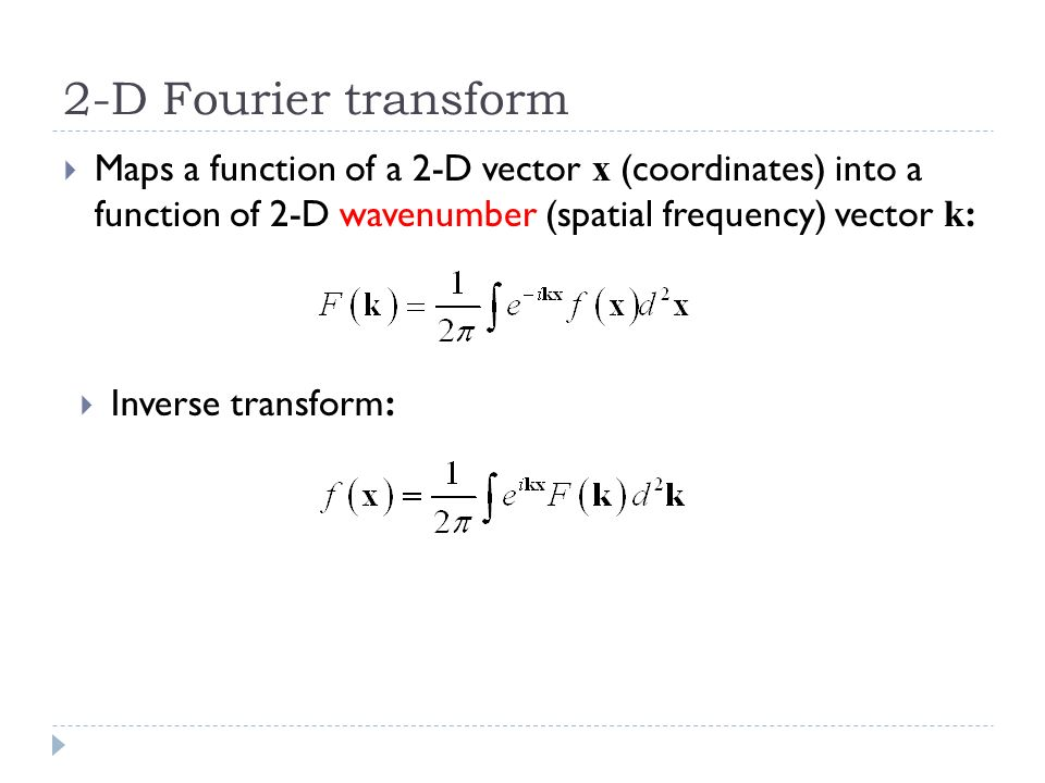 960x720 Outline 2 D Fourier Transforms The Sampling Theorem Sampling