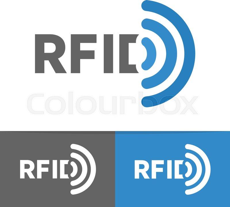 800x719 Vector Rfid Tag Icon Or Logo. Radio Frequency Identification