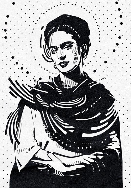 537x770 Frida Pop Art Tribute To Frida Kahlo Angel Perez Guzman