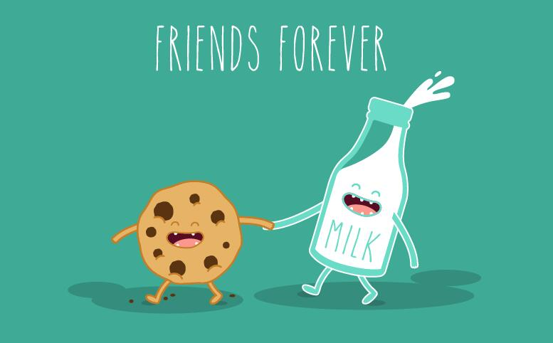 777x482 Funny Cartoon Friends Vector Material 01 Free Download