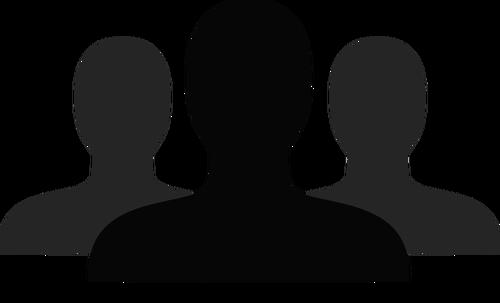 500x303 Grayscale Friends Vector Icon Public Domain Vectors