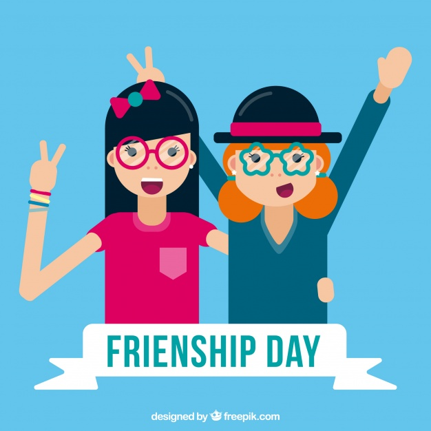 626x626 Background With Funny Friends Vector Free Download