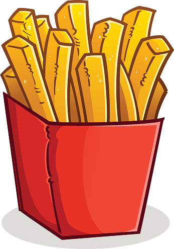 347x495 French Fries Vector Clipart