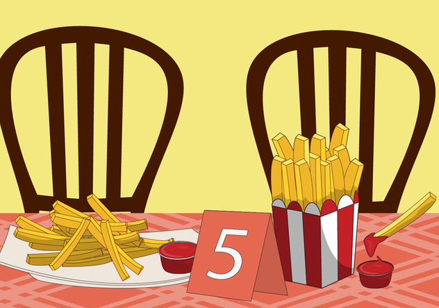 632x443 French Fries Vector Free Vector Download 317713 Cannypic