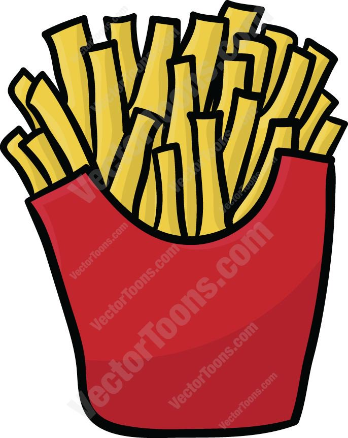 686x862 French Fries Clipart By Vector Toons