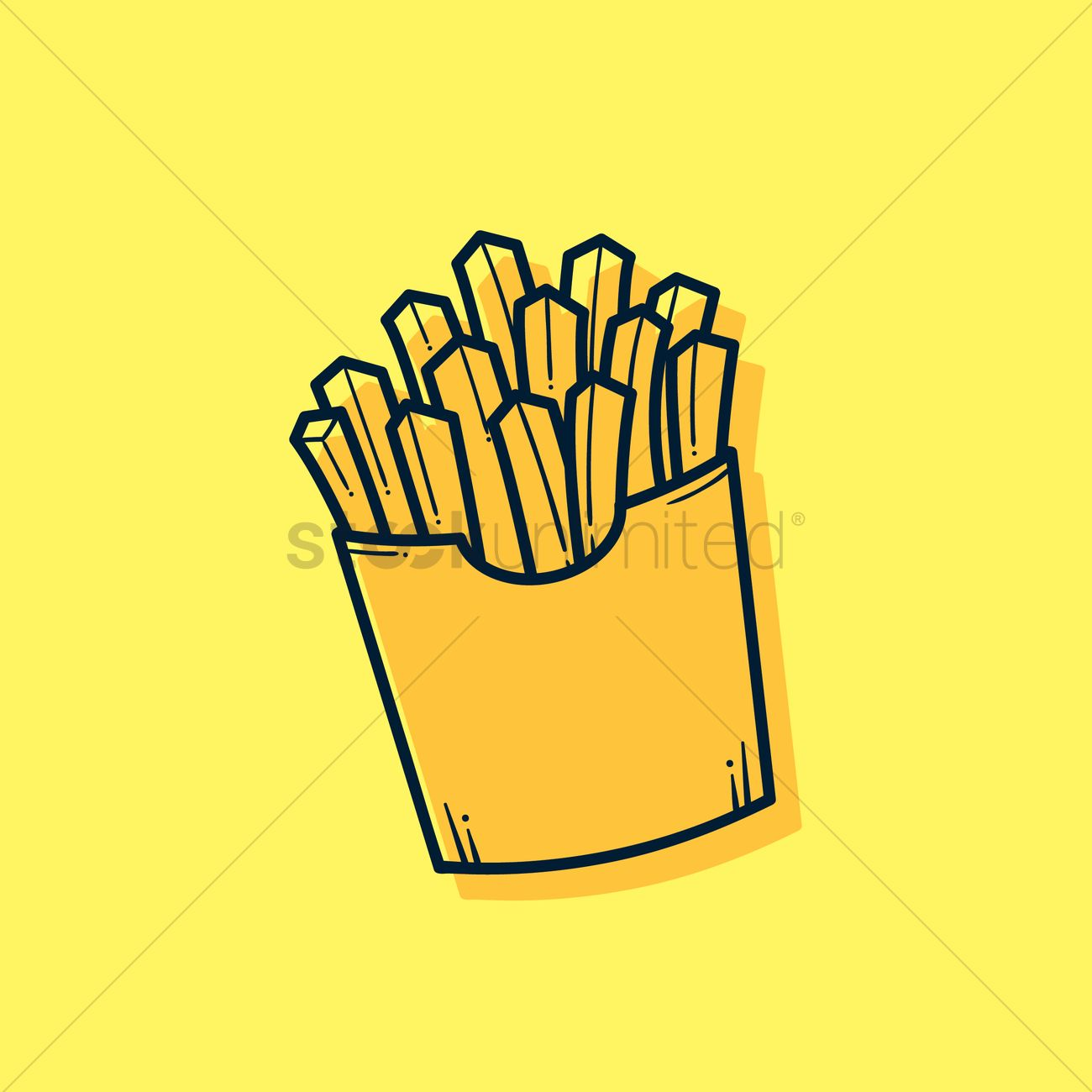 1300x1300 French Fries Vector Image