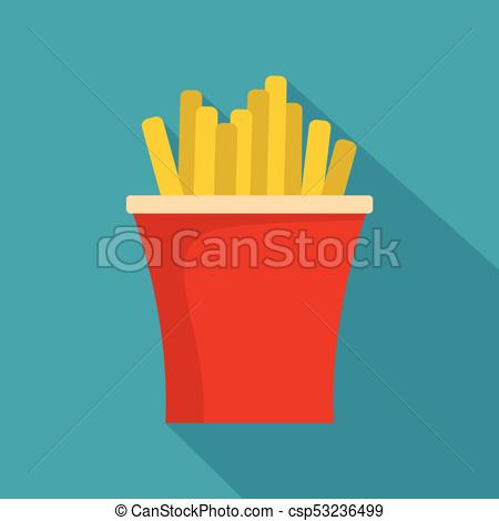 450x470 French Fries Icon, Flat Style. French Fries Icon. Flat