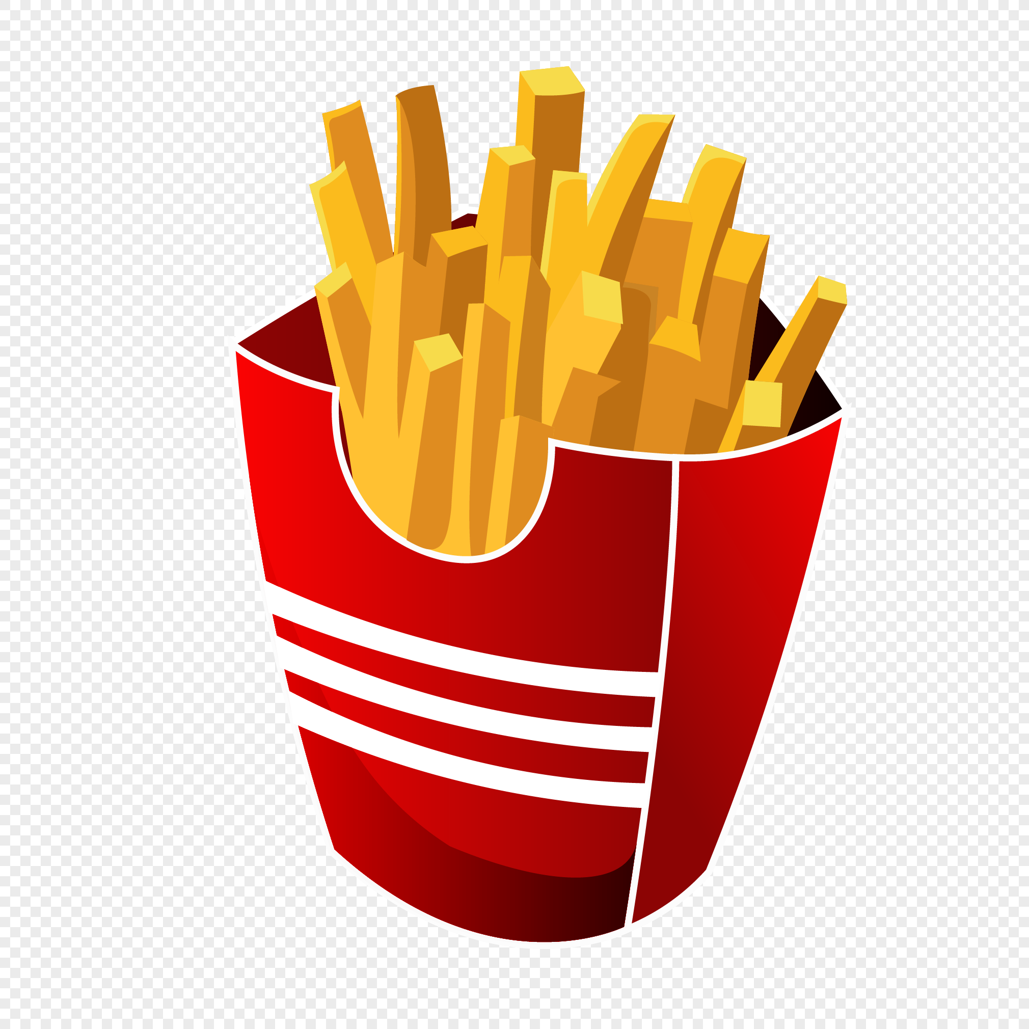 2020x2020 French Fries Vector Png Image Picture Free Download