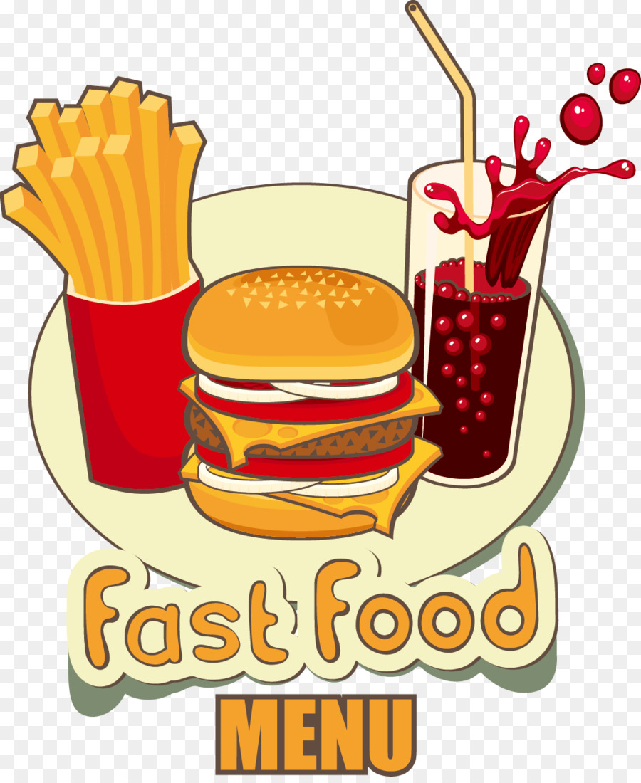 900x1100 Download Fast Food Hamburger Junk Food French Fries Vector Fries