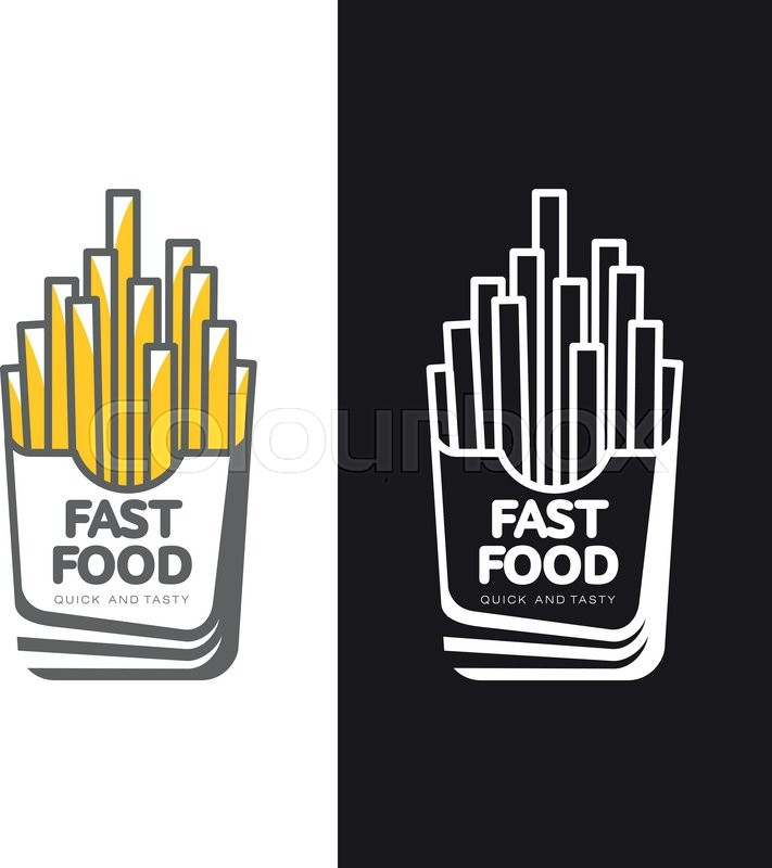 711x800 Logos Potato Fries, Vector Simple Illustration Isolated On White