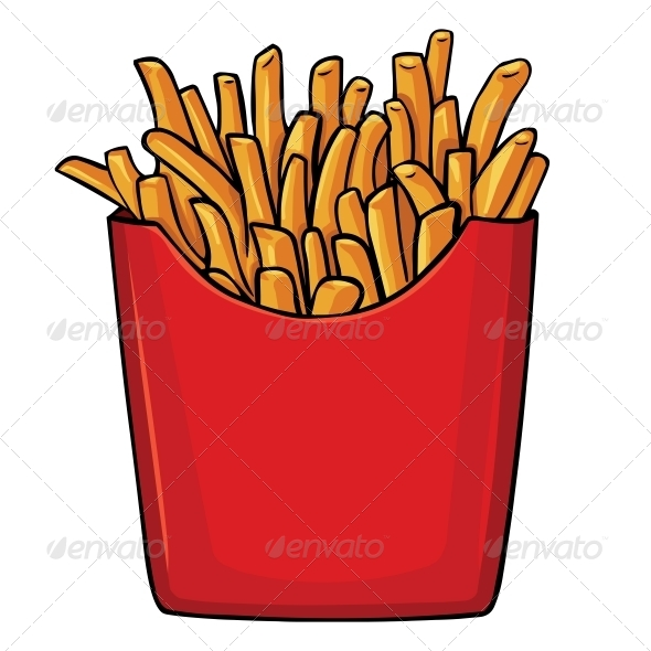 590x590 Vector Cartoon French Fries In Red Carton By Nikiteev Graphicriver