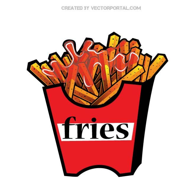 660x660 French Fries Vector Illustration