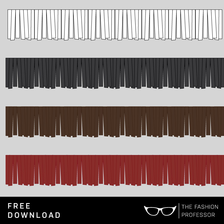 750x750 Free Vector Download Fringe Brush The Fashion Professor