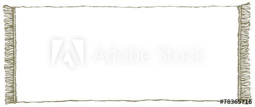 500x211 Vector Frame. Towel With Fringe