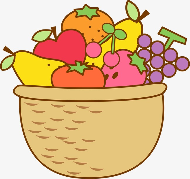 650x614 Fruit Basket, Vector, Cartoon, Hand Painted Png And Vector For