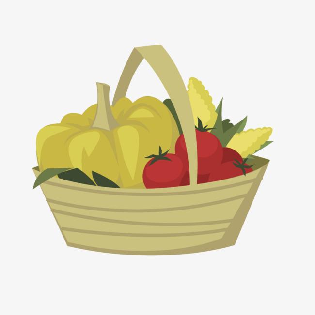 650x651 Fruit Basket Vectors
