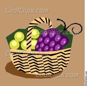 301x300 Fruit Basket Vector Clip Art