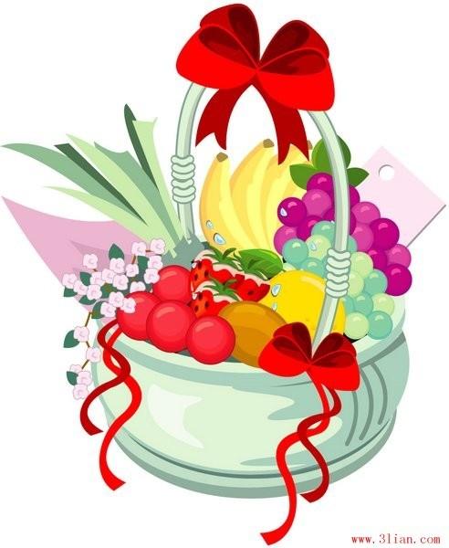 492x600 Fruits Basket Vector Free Vector In Adobe Illustrator Ai ( .ai