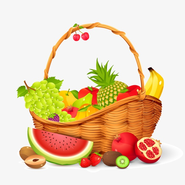 650x650 Vector Fruit Basket, Fruit Vector, Hd, Vector Png And Vector For