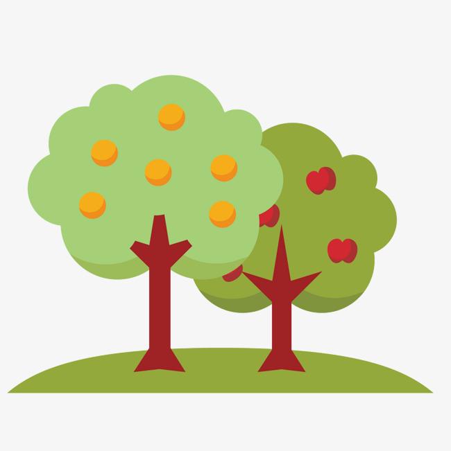650x651 Cartoon Fruit Tree, Cartoon Vector, Fruit Vector, Tree Vector Png