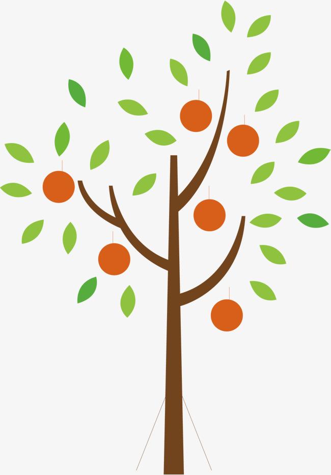 650x933 Cartoon Fruit Tree Vector, Fruit Clipart, Tree Clipart, Cartoon