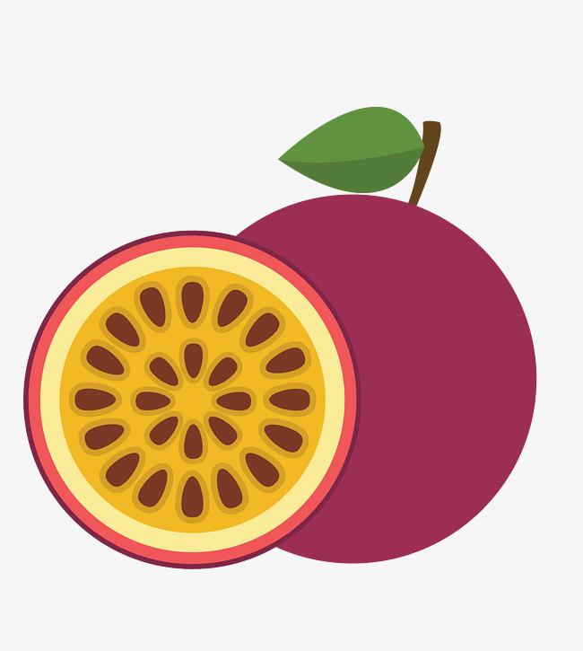 650x725 Vector Passion Fruit, Fruit Vector, Fruit Clipart, Passion Fruit