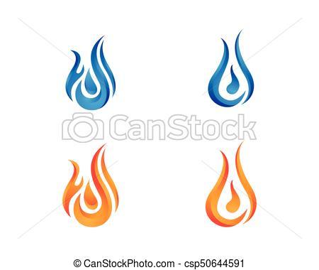 450x380 Fuego, Logotipo, Vector, Llama, Plantilla. Concepto, Fuego