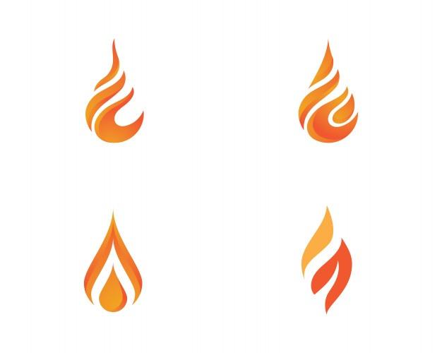 626x500 Vector De Plantilla De Logotipo De Llama De Fuego Descargar