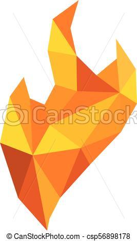 267x470 Diamante, Fuego, Vector, Plantilla, Logotipo.