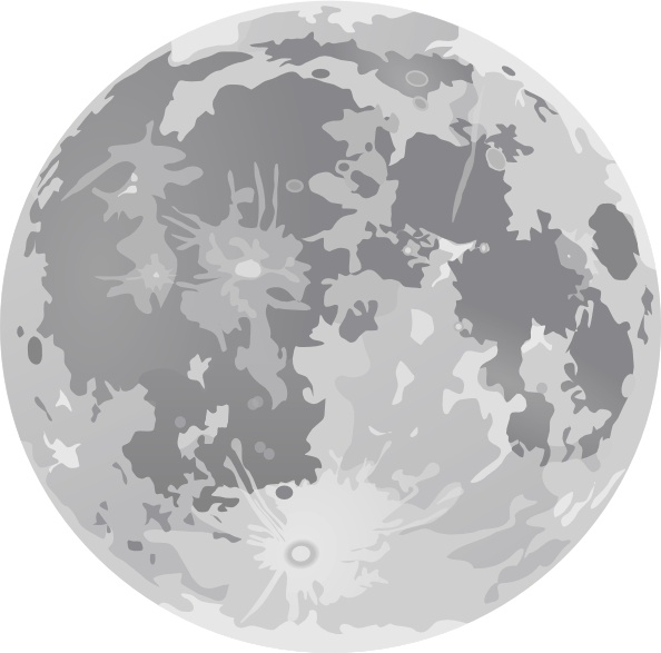 594x587 Full Moon Clip Art Free Vector In Open Office Drawing Svg ( .svg