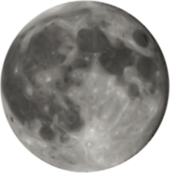 592x600 Full Moon Free Vector In Open Office Drawing Svg ( .svg ) Vector