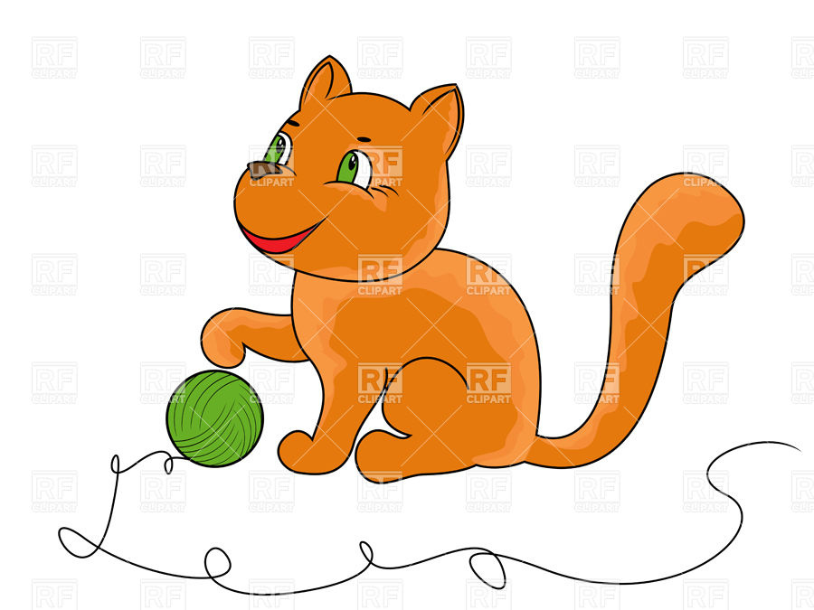 900x675 Little Funny Kitten Playing With Ball Of Yarn