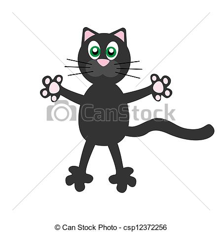450x470 Vector Illustration Of Funny Cat.