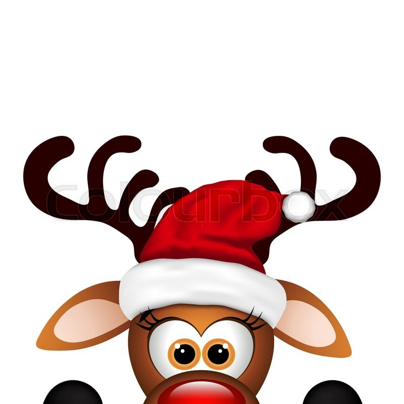 800x800 Funny Christmas Reindeer On A White Background. Stock Vector