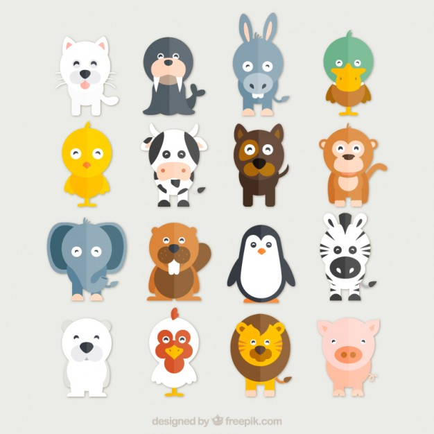 626x626 Funny Animals Collection Vector Free Download