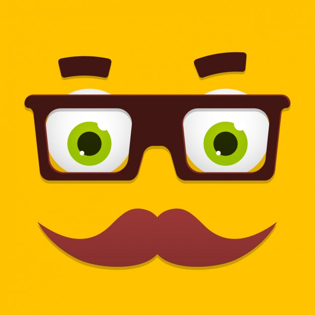626x626 Funny Cartoon Face Design Vector Free Download
