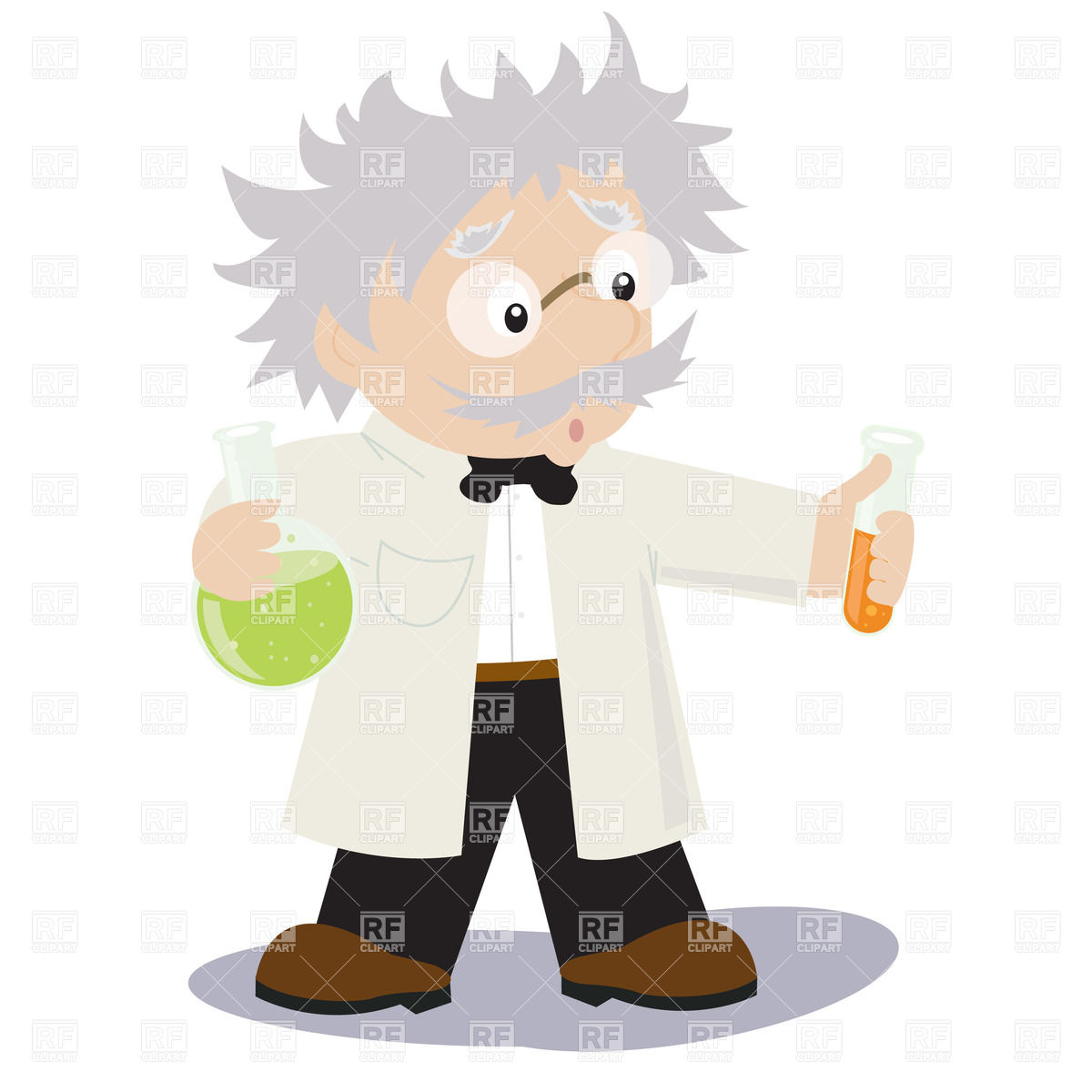 1200x1200 Funny Cartoon Scientist Vector Image Vector Artwork Of People