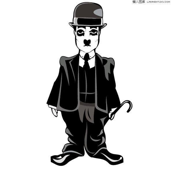 600x584 Chaplin Funny Cartoon Image Vector Material My Free Photoshop